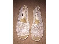 White espadrilles- Size 3.5