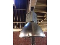 pair industrial pendant lights having been converted to a 13amp fused plug