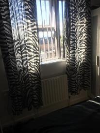 Curtains pillows light shade