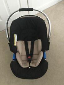 Mothercare 4 wheel pram black/baige with chrome finishing