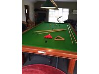 12x6 full size light mahogany snooker table mint
