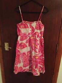 Pink flower print dress size 12