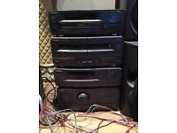 Technics stack deck with extra speakers