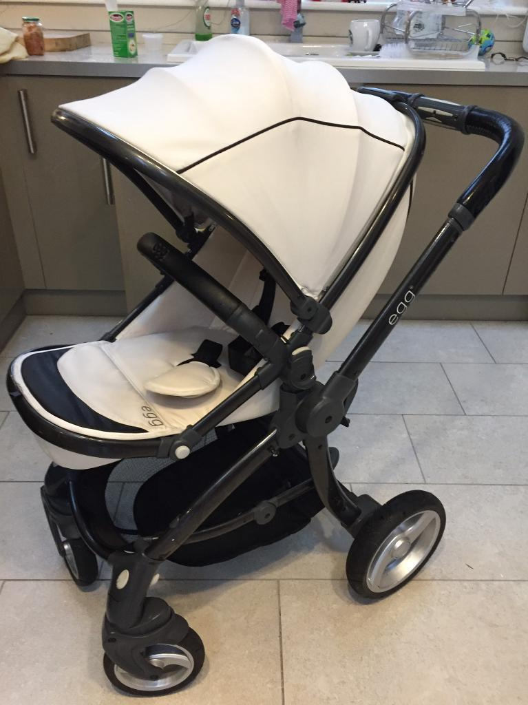 Cream Egg Pram And Carry Out With Extras In Tonypandy