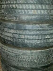 4 Used 245/70 R 19.5 Michelin XRV