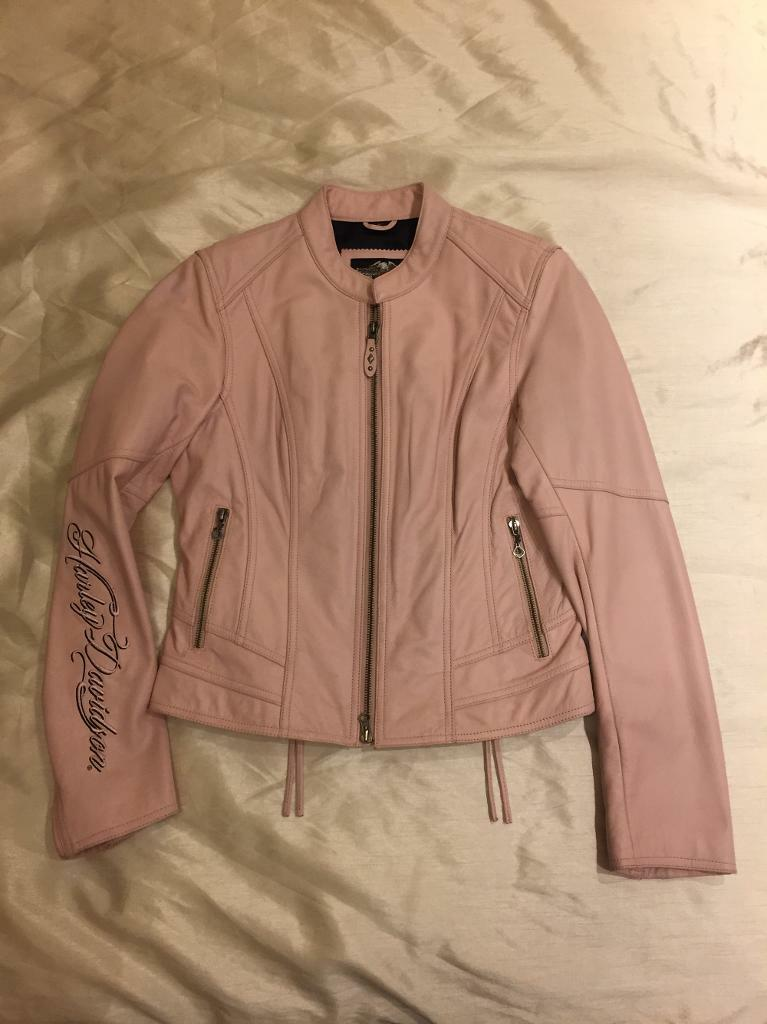Harley-Davidson Ladies Pink Leather Jacket