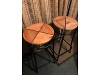 IKEA AGNE pair of bar stools
