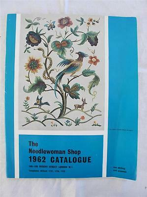 VINTAGE 1960's THE NEEDLEWOMAN SHOP EMBROIDERY PATTERN CATALOGUE & PRICES c1962