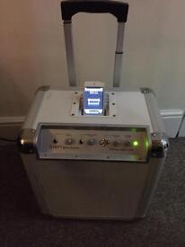 Ion block rocker PA system amplifier iPod docking karaoke