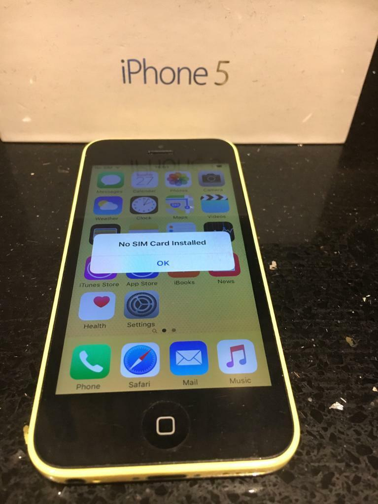 iPhone 5c 8gb yellow Unlocked To Any Network