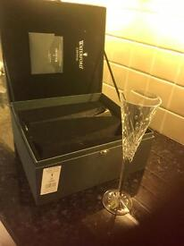 Waterford lead. Crystal Champagne flutes