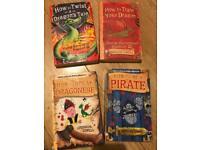 Bundle of 4 Cressida cowell books