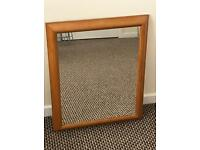 Pine wall mirror