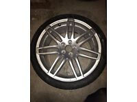 GENUINE AUDI RS4 WHEEL ONLY SINGLES WITH BRANDED TYRE