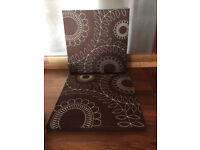 2 Medium Sized Chocolate Brown Canvases
