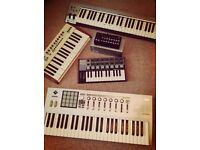 Various MIDI controllers - Arturia, Korg & M-Audio.