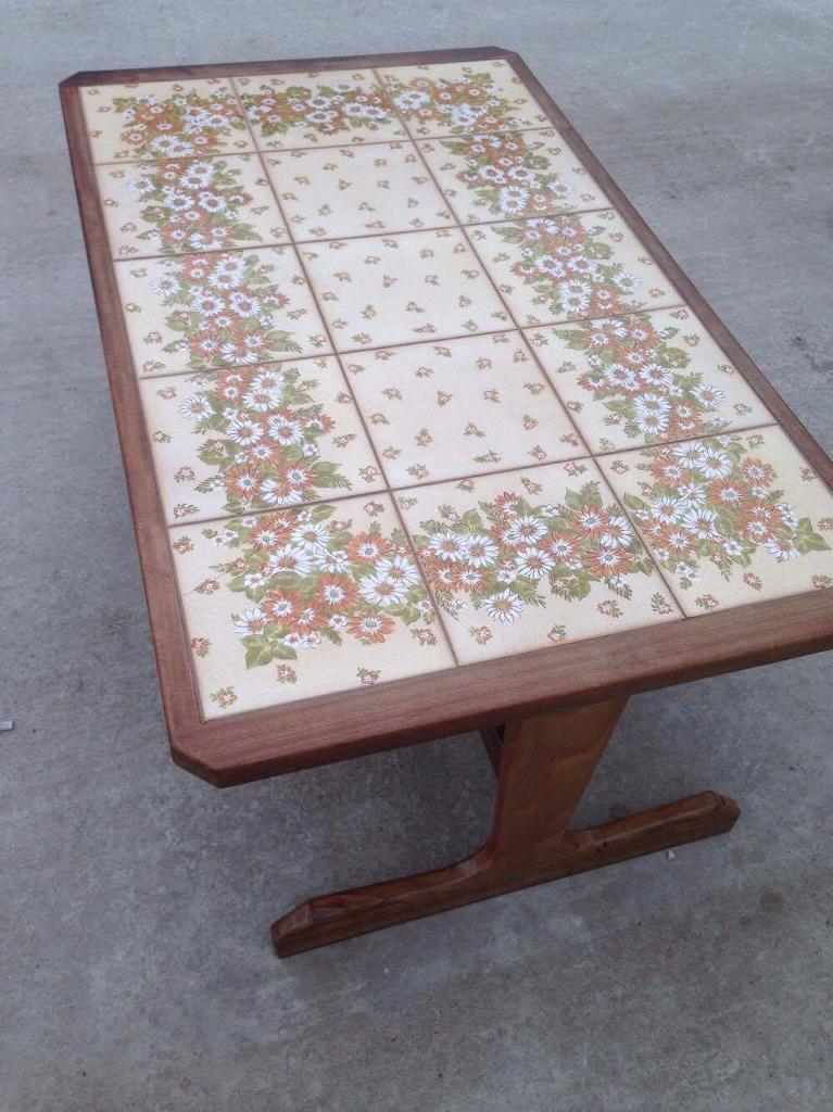 Tiled top coffee table free delivery