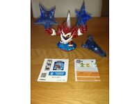 Skylanders Trap Team Winterfest Lob-Star Character & Water Trap As New Condition