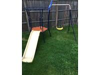 Child's swing and slide set