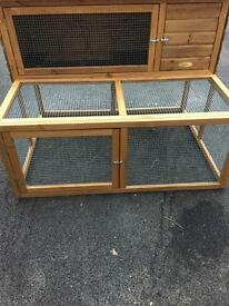 Rabbit hutch with run - only one week old!