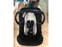 Mothercare car seat and easy car seat lock in frame for car
