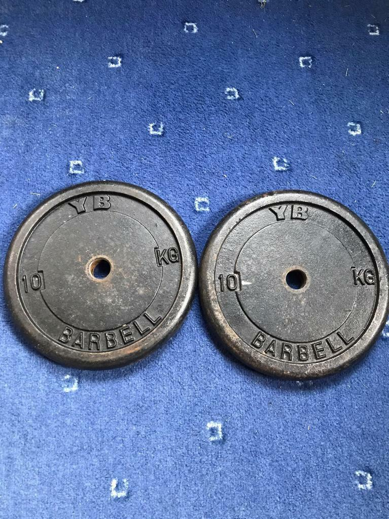 2x10kg YB cast iron weight plates