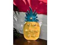 TALKING TABLES CUBAN FIESTA XL LED PINEAPPLE LIGHT TALL LARGE YELLOW BLUE FRUIT