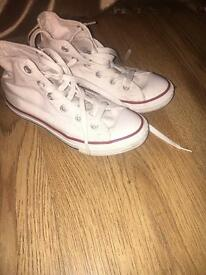 Children's white high top converse