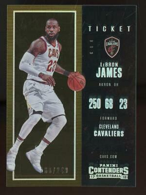 2017 Panini Contenders Playoff Ticket #20 LeBron James 188/249