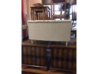 Lloyd loom ottoman storage blanket box