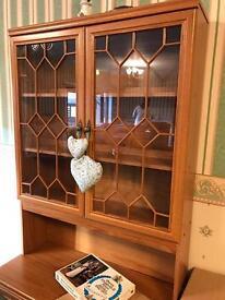 Wall unit dresser glass cupboard