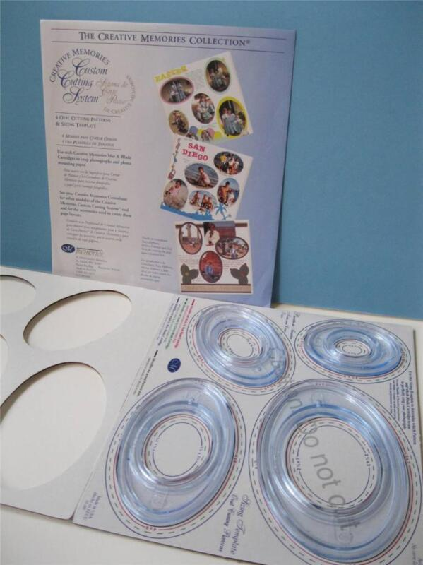 creative memories OVAL PATTERNS CUSTOM CUTTING SYSTEM, TEMPLATES in Package