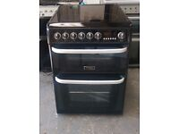 6 MONTHS WARRANTY Black / silver Cannon 60cm, double oven electric cooker FREE DELIVERY