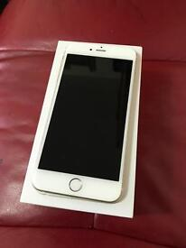 Apple iPhone 6 Plus. White and silver Brand new condition. O2 giffgaff and Tesco