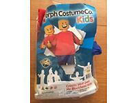 Lego man costume 5-6 years