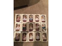 Porcelain collectible ornament dolls