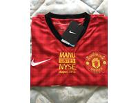 Very rare collectors Manchester United shirt from listing on New York Stock Exchange