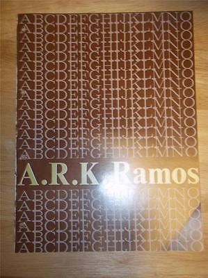Vtg A.r.k Ramos Foundry Manufacturing Catalogsignsletteringplaques