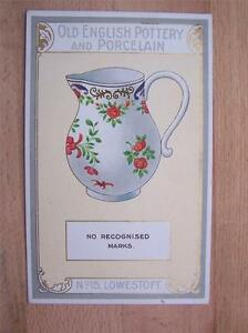 Old English Pottery And Porcelain Lowestoft  Advertising