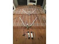 Pair of Kitchen Corner Cupboard Baskets