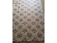Luxury Designer Fabric - Red & White Embroidery Detail (1m 70cm) BATTERSEA COLLECTION