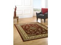 Small classic traditional oriental style Persian rug