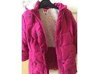 Girls winter coat age 4