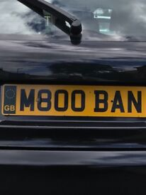 **M800BAN** Number plate for sale