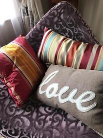 3 cushions - designer bedeck - like NEW