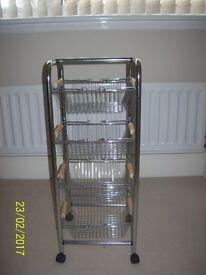 Chrome 4 basket vegetable rack