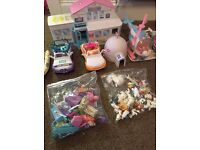 Huge Large Animal hospital toy bundle - people animals Jeep, Boat, Igloo, Figures, Animals & More