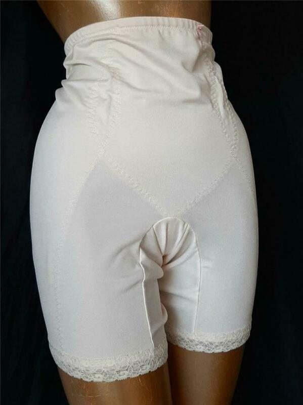 SLIMMING Nude / Champagne Vintage LONG LEG GIRDLE SHAPER PANTIES - XXXL