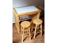 Kitchen Table + 2 stools John Lewis