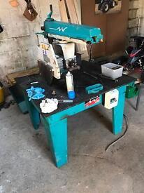 Wadkin BRA 350 Radial arm saw